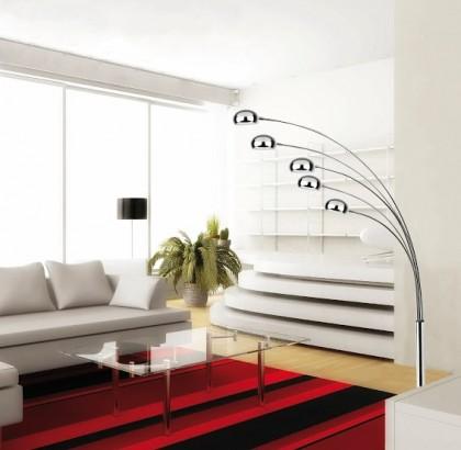 Modern bright interior with modern furniture